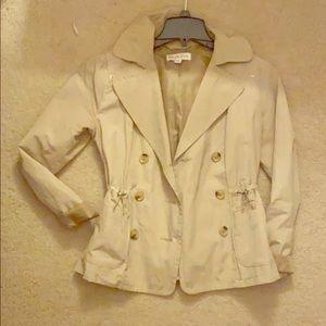 Khaki short trench jacket